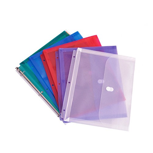 "BND0218 Poly Ring Binder Envelope with 1"" Gusset - 6/Pack"