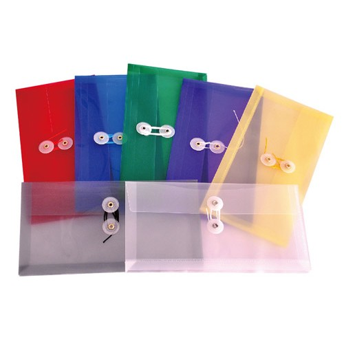FLD0921 Expanding Envelope String & Button Check - 6/Pack